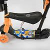 Трехколесный самокат 5в1 Best Scooter Черно-оранжевый Самокат для ребенка от 1 года, фото 5