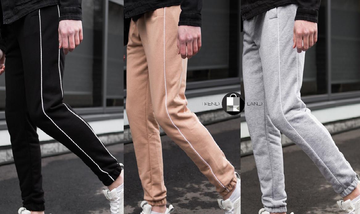 Мужские качетсвенные штаны с полосками Midle 3 цвета в наличии