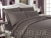 Комплект постельного белья сатин  Altinbasak евро размер Аntrasit