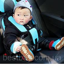 Детское автокресло бескаркасное с подголовником 9-36 кг АКЦИЯ, фото 3