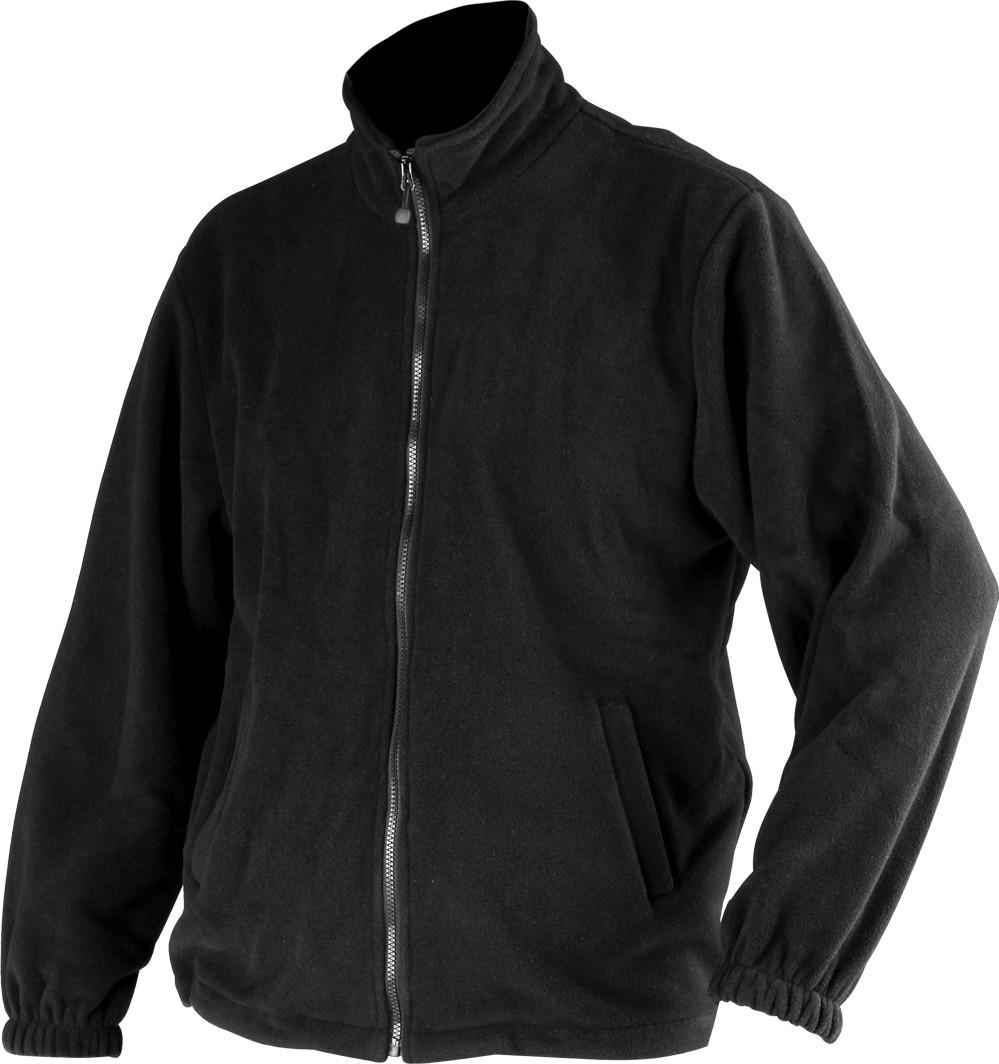 Куртка флисовая YATO черная, размер L