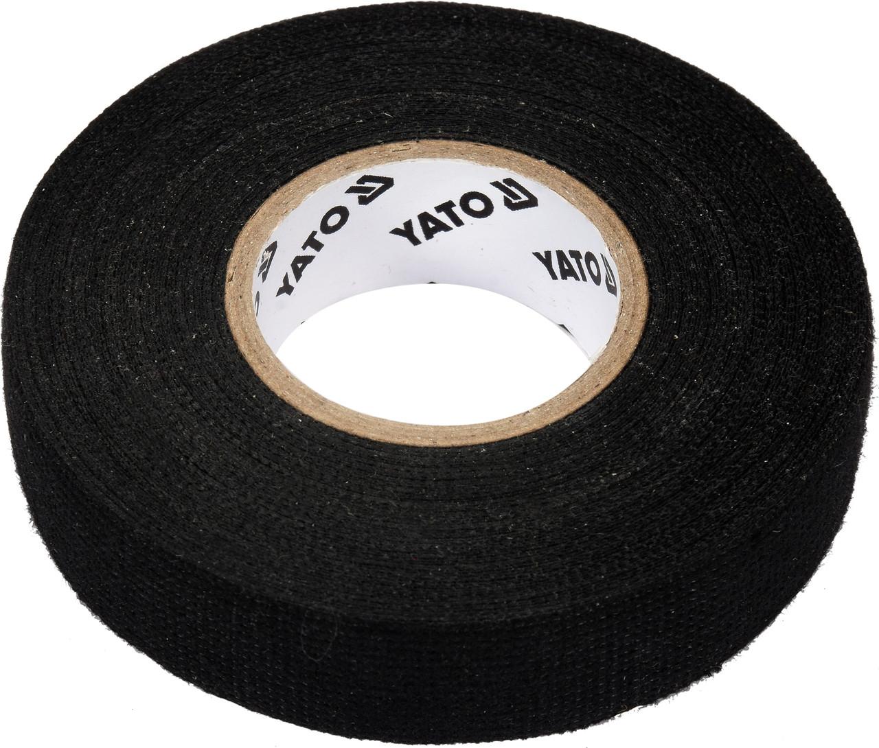 Лента изоляционная тканевая черная YATO 15 м x 19 x 0.3 мм -40°С - +105°С