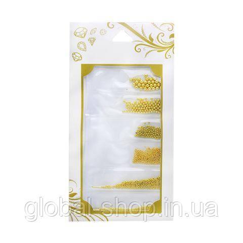 Металлические бульонки,бульйонки Global Fashion разных размеров микс ( светлое золото )