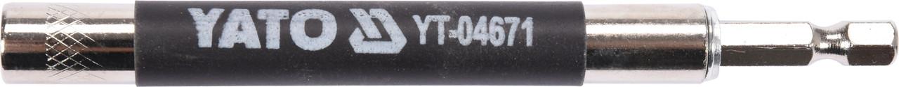 """Магнітний тримач для отверточних насадок YATO HEX - 1/4"""" 120 мм"""