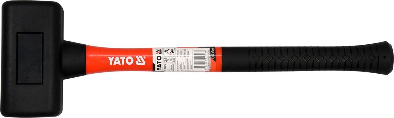 Молоток безынерционный YATO со стекловолоконной ручкой 495 мм 2.4 кг