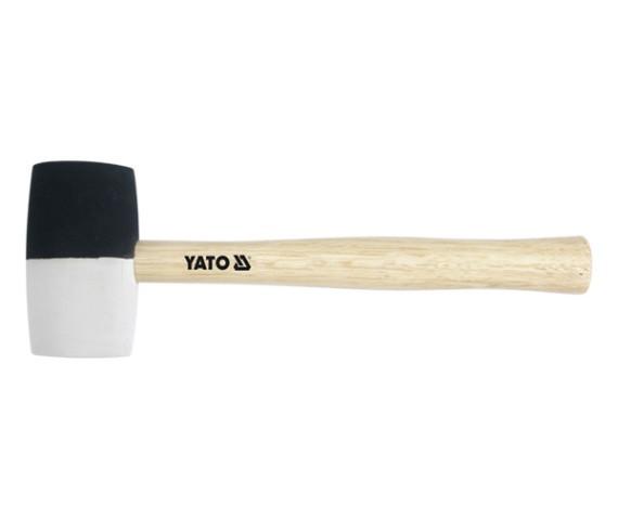 Молоток резиновый YATO с деревянной ручкой 44 мм 230 г 259 мм