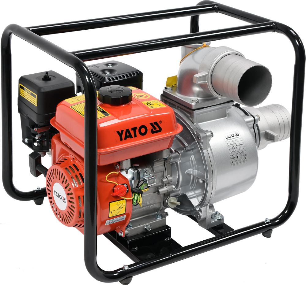 """Мотопомпа YATO 4"""" 7,7 к.с. 96м³/год"""