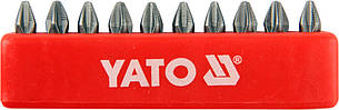 "Насадка отверточная YATO 1/4 ""крестовая PН2 х 25 мм 10 шт"