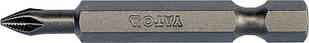 """Насадка отверточная YATO 1/4 """"крестовая РH1 х 50 мм 10 шт"""