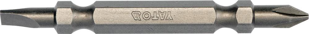 """Насадка отверточная двусторонняя YATO 1/4"""" SL4.5-PH1 x 65 мм 10 шт"""