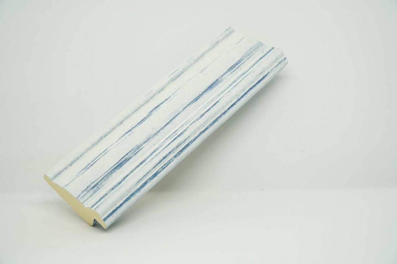 Багет дерев'яний патина синя