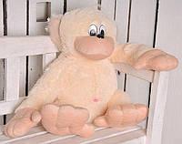 Мягкая игрушка Alina original Обезьяна 75см персиковая