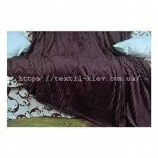 Покривало плед смужка Шарпей Євро 200х230 см колір Баклажан