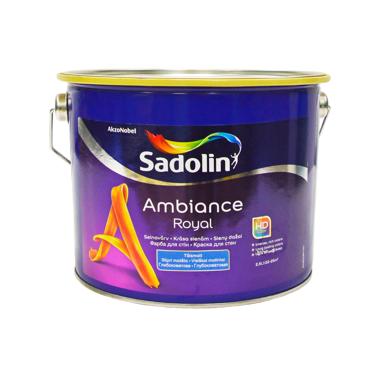 Глубокоматовая краска для стен Sadolin AMBIANCE ROYAL база BW