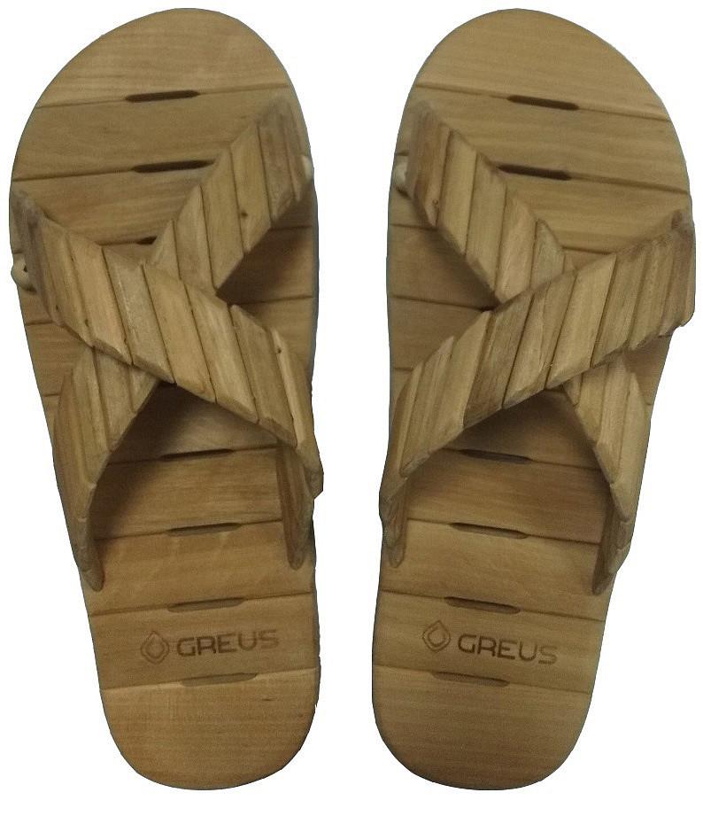 Тапки Greus деревянные размеры 36 - 44 для бани и сауны