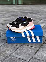 "Кроссовки женские Adidas Falcon ""Core Black Light Granite"""