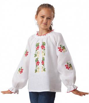 Дитяча вишиванка Калина (на ріст від 98 см до 158 см)
