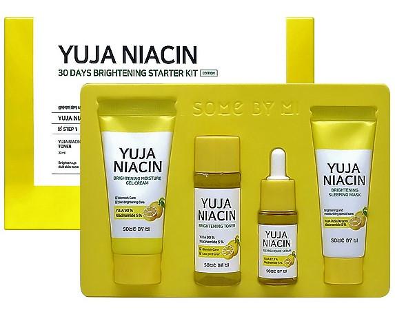 Набор миниатюр осветляющих средств с Юдзу Some By Mi Yuja Niacin 30 Days Brightening Starter kit