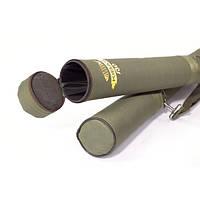 Тубус-чехол для удилищ 110х8 см для спиннинга фидера удочек жесткий односекционный круглый Kibas Хаки