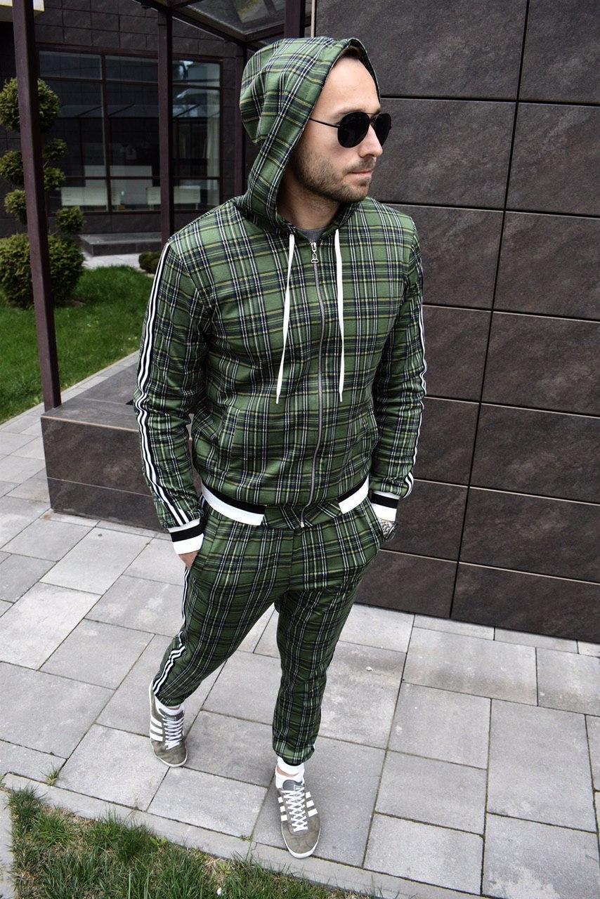 Мужской костюм Джентльмен капюшон хаки