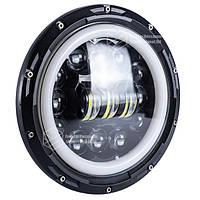 Фара главного света LED 75 W (ближний + дальний + ходовые огни) 7 дюймов