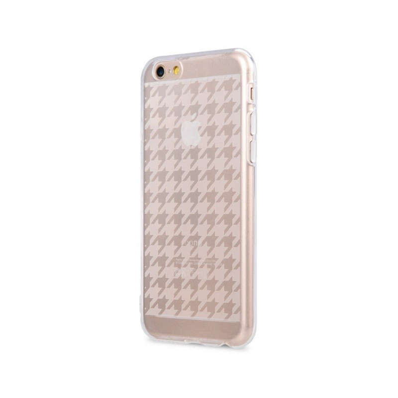 Чехол-накладка Melkco Nation TPU Houndstooth Check для iPhone 6/6S Transparent