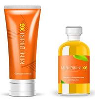 Комплекс Mini Bikini X6 эффективный Комплекс для депиляции Крем и Спрей, Мини Бикини комплекс для депиляции