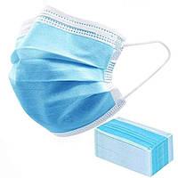 Медичні тришарові фабричні маски 50 шт