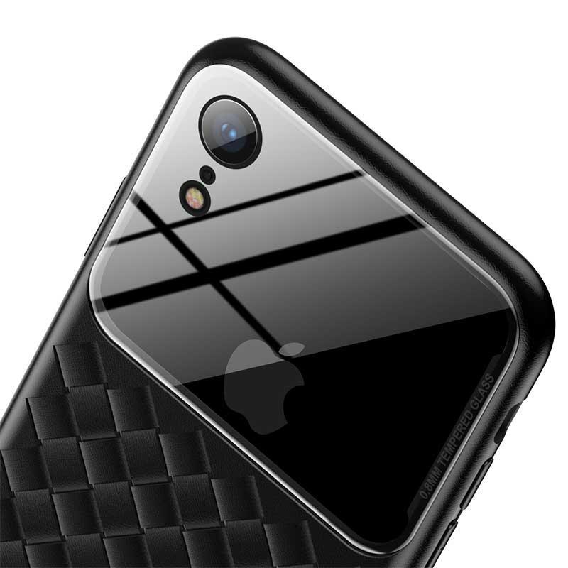 Чехол Baseus Glass and Weaving Case для Apple iPhone XR Black