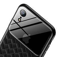 Чехол Baseus Glass and Weaving Case для Apple iPhone XR Black, фото 1