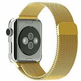 Ремешок Milanese Loop (Миланская петля) для Apple Watch 38mm/40mm Gold, фото 2