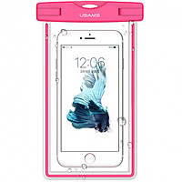 Водонепроницаемый чехол для смартфонов (до 6 дюймов) Usams US-YD002 Luminous Waterproof Pink
