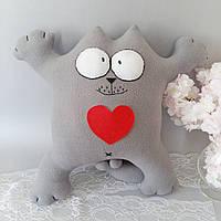 "Игрушка на диван ""Кот Саймона"" с сердцем 50 см"