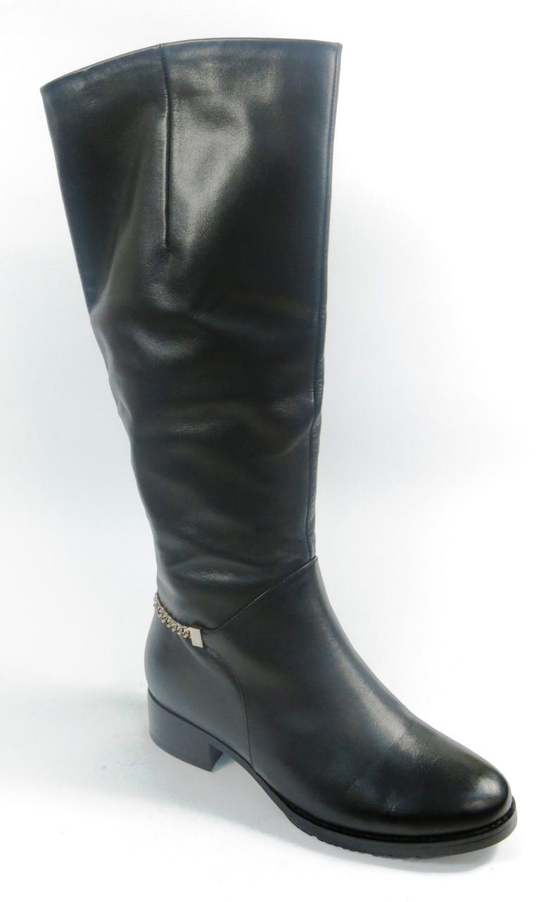 Женские зимние сапоги на низком каблуке, фото 1