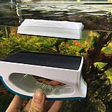 Магнитная щетка, скребок, очиститель для чистки стекла аквариума, фото 3