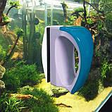 Магнитная щетка, скребок, очиститель для чистки стекла аквариума, фото 4