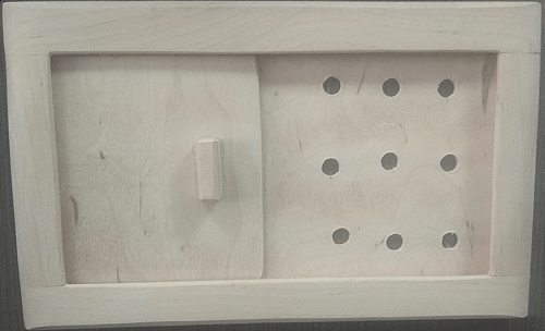 Задвижка Greus вентиляционная / ольха 25 0мм*160 мм для бани и сауны