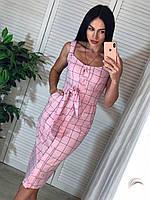 Стильное летнее длинное платье сарафан из хлопка Размеры S и M