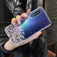 Чехол силиконовый ультратонкий прозрачный Xiaomi Mi A3 с блестками (Сяоми Ксиоми Ми А3), фото 1