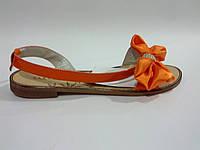 Лаковые женские удобные стильные модные яркие оранжевые сандалии 37