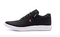Мужские кожаные летние кроссовки, перфорация 532 к.черные, фото 1