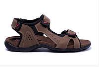 Мужские кожаные сандалии E-series Active Drive Olive, фото 1