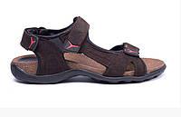 Чоловічі шкіряні сандалі E-series Active Drive brown коричневі, фото 1