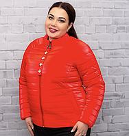 Красная тонкая куртка (50-56) весна-лето