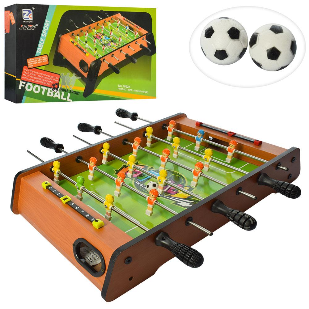 Настольная игра Футбол на штангах 1062A деревянная шкала ведения счета 2 мяча