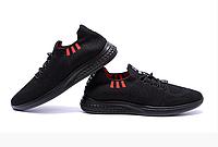 Мужские летние кроссовки сетка BS Black Line черные, фото 1