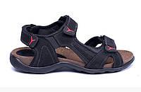 Мужские кожаные сандалии E-series Active Drive black черные, фото 1