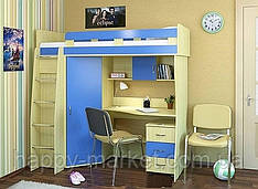 Кровать -чердак  с тумбой КЧТ-0425