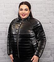 Женская тонкая куртка цвета металик (50-56) весна-лето