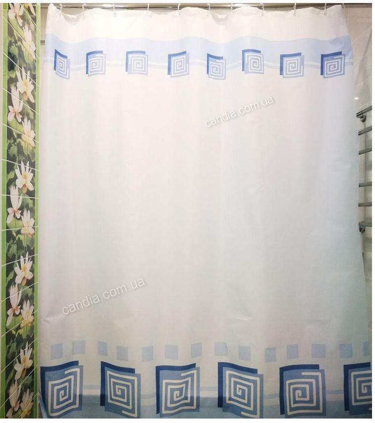 """Штора для ванної текстиль точний розмір 180x200 см """"Лабіринт"""""""